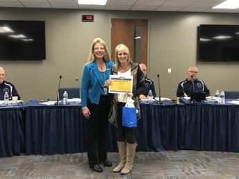 Mrs. Crawford was the recipient of the November Superintendent's Award.
