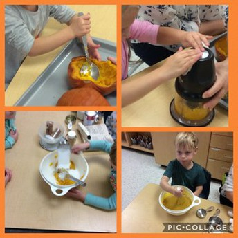 Cooking up tasty treats with our Fruition Farms pumpkins :)