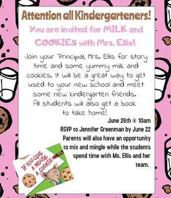 Milk and Cookies with Mrs. Ellis