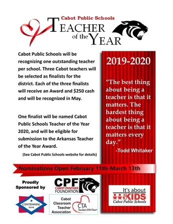 Cabot Teacher of the Year
