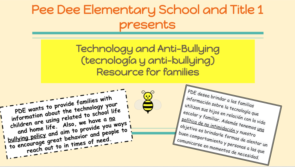 PDE Anti-bullying presentation