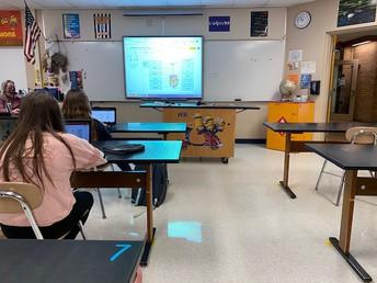 Mrs. Theobald's class studies the circulatory system.