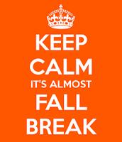 Schedule after Fall Break....