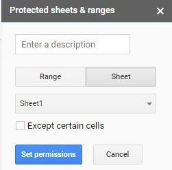 Protected Sheets