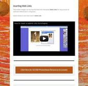 Inserting Web Links