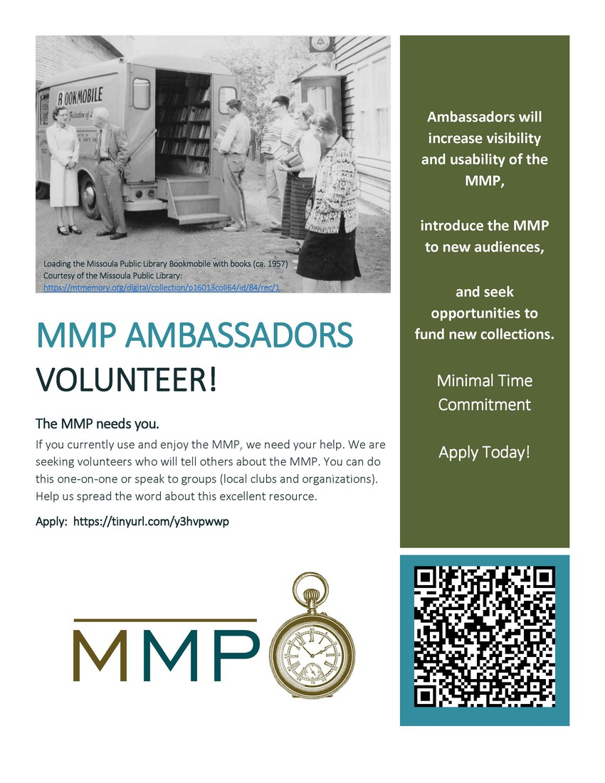 Montana Memory Project Ambassadors Needed