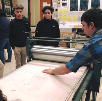 Printmaking Enrichment Students Visit MSU