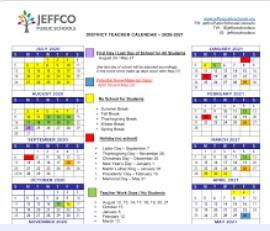 21/22 School Calendar