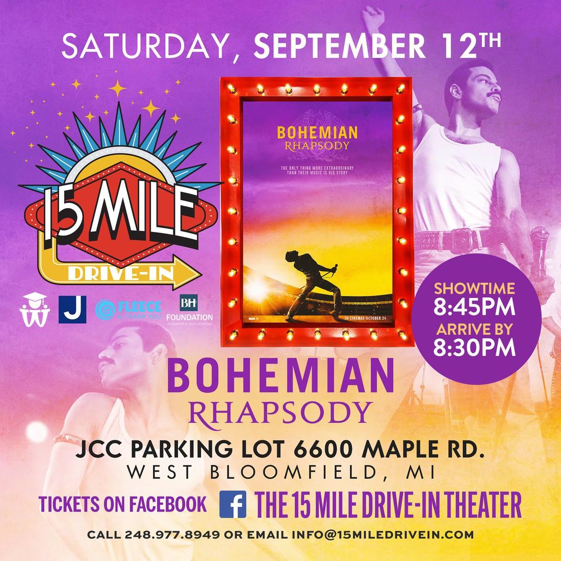 Bohemian Rhapsody ticket link 15 mile Drive In