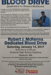 fourth Annual Robert J. McKenna Blood drive.
