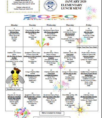 EES Lunch Menu-January