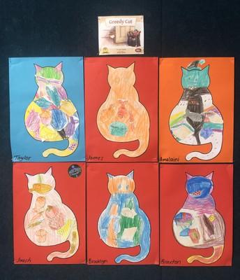 Room 1 Greedy Cat Drawings
