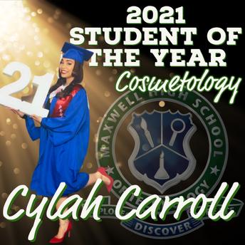 Cylah Carroll, Cosmetology SOY