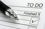 Step #1:  Create Your To-Do List