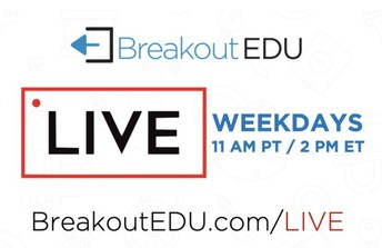 Breakout EDU LIVE and FREE Every Weekday
