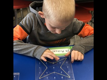 Building on a Geoboard in Second Grade