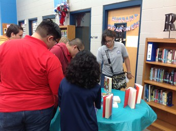 Students select books