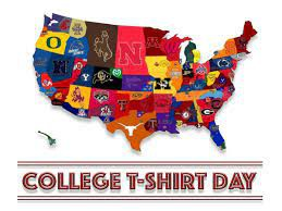Friday, August 20 College T-Shirt Friday