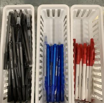 Pens- Black, Blue or Red ink