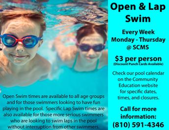 Swartz Creek Pool Calendar - Summer