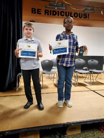 Congratulations Spelling Bee Winners!