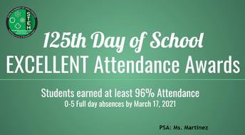 Excellent Attendance Awards