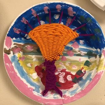 1st Grade Art - Weaving!