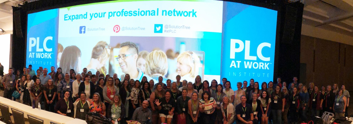 90 East Valley employees attending the Professional Learning Communities conference in Seattle this summer.