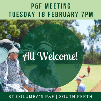 P&F Meeting Tue 18 Feb 7pm - all welcome