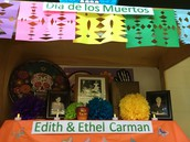 Pictures of Edith & Ethel Carman are on the first level.
