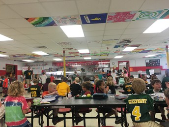 Our bustling cafeteria full of friends.