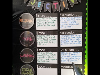 Bilingual I Can Objectives