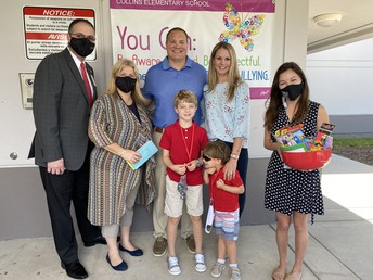 Thank you to the Hernandez family for your loving donation to Collins Elementary. Their son Christian died shortly after birth but would be turning 5. In his memory, the Hernandez family donated $1000 to the kindergarten team at Collins.