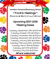 Meeting dates for the year