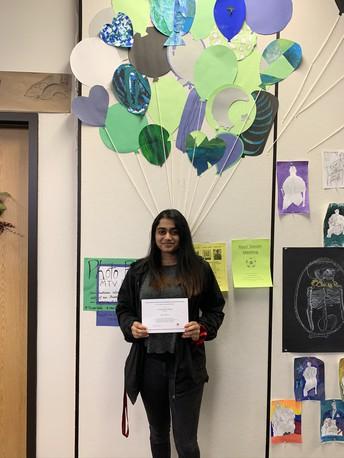 Congratulations Shrisha Menon for being named a National Merit Scholar!