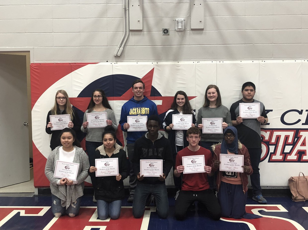 """Students Recognized as """"STARS"""" of the Month"""