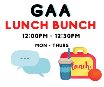 Check your Google Classroom for the Lunch Bunch link!