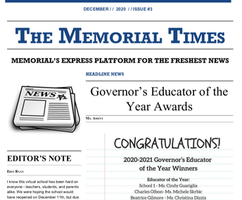 Memorial Times December issue is out