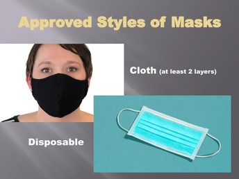 Approved Styles of Masks