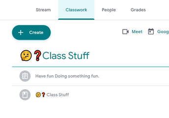 Everything is in Google Classroom this Fall!