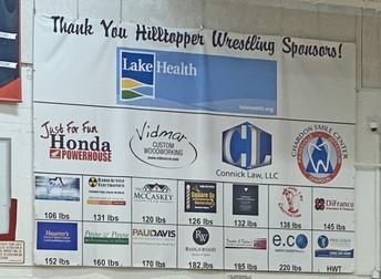 CHS Wrestling Sponsors banner