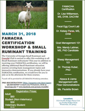 FAMACHA© Certification and Small Ruminant Training