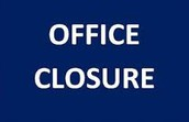FPCS ADMINISTRATIVE/BUSINESS OFFICE CLOSURE