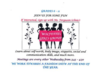 Wolfettes Girls Group Grades   6-11