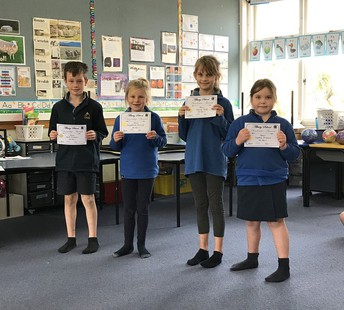 Congratulations to the recipients of awards at assembly this week: