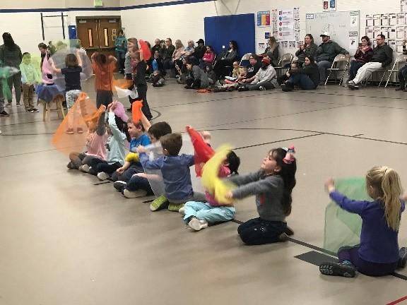 Students performing at Arts Night
