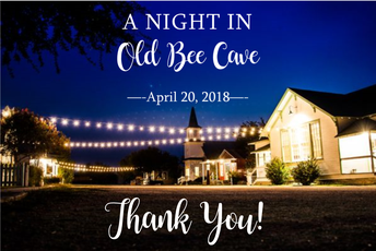 A Night in Old Bee Cave - Thank you!