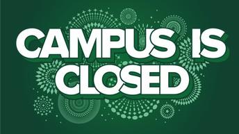 Reminder - Closed Campus
