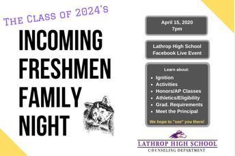 Virtual Freshmen Family Night