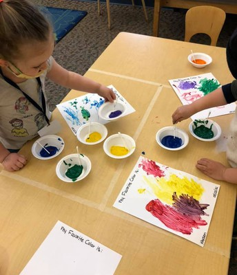 Creative Art is an important part of our daily curriculum!